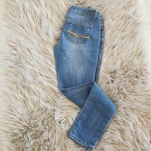 Distressed Almost Famous jeans